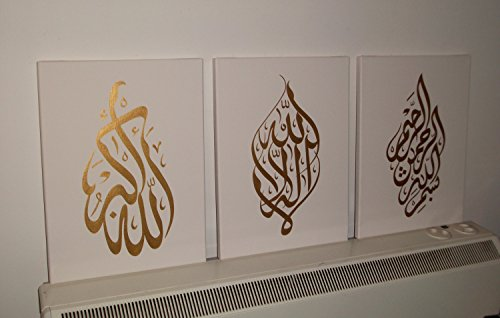 Arabic-Calligraphy-Islamic-Handmade-Pictures-Wall-Art-Oil-Paintings-on-Canvas-3pcs-for-Living-Room-Home-Decorations-Wooden-Framed