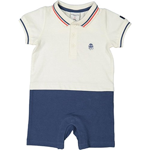 Polarn O. Pyret Stepping Out Eco Suit (Newborn) - 4-6 Months/Snow White (Eco Polo Pique)