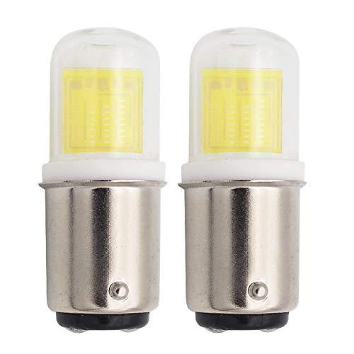 GRV Ba15d Led Bulb 2.8W 1511 COB Light Double Contact Bayonet Base AC/DC 12V -14V 25W Halogen Bulbs Replacement Bulbs Cool White Pack of 2 ()