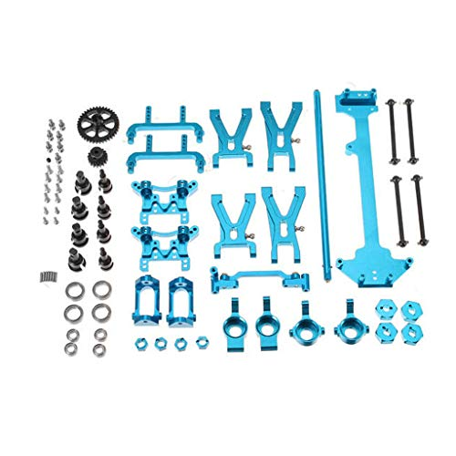 vmree Metal Full Set Upgrade for WLtoys 1/18 Scale A949 A959 A969 A979 K929 Rc Model Car Metal Truck Parts Kit Vehicles Accessories ()