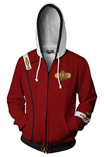 Paniclub Unisex Printed The Wrath of Khan Jacket Adult Zipper Hoodie Halloween Cosplay -