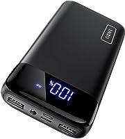 INIU Powerbank, Kompakte LED-Anzeige 20000mAh Externer Akku mit Dualer 3A Ausgängen und USB-C Eingang, Power Bank für...