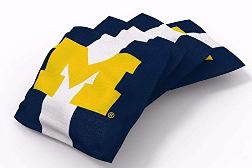 PROLINE 6x6 NCAA College Michigan Wolverines Cornhole Bean Bags - Stripe Design (A)