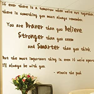 Large Winnie The Pooh Wall Art Quotes / Wall Stickers / Wall Decals / Wall  Mural Purple Part 90