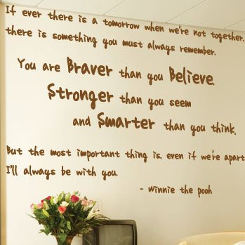 Large Winnie The Pooh Wall Art Quotes / Wall Stickers / Wall Decals / Wall  Mural Part 54