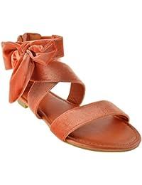 Magical 27M Womens Printed Side Bow Flat Sandal