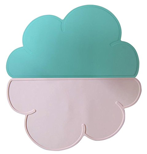 Jypc Set of 2 Kids Silicone Cloud Placemat Dinnerware Table
