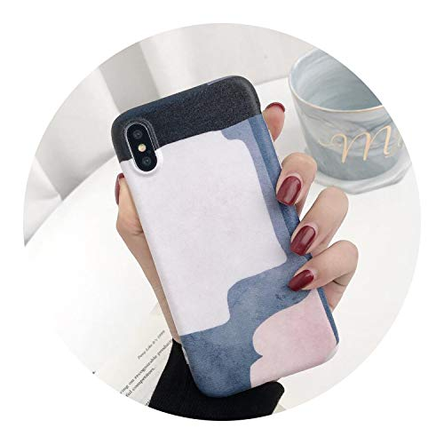 Abstract Art Painting Matte Phone Case Compatible for iPhone X XR XS,SSH,Compatible for iPhone Xs max