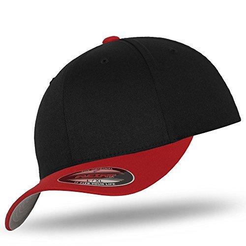 Flexfit para Negro hombre Rojo Gorra béisbol de P061q