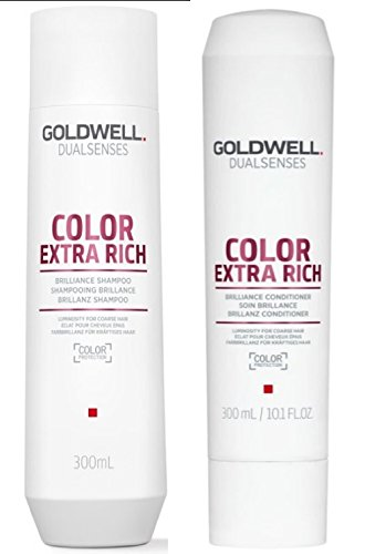 Goldwell Dualsenses Color Extra Rich Brilliance Shampoo & Conditioner Duo Set 10.1 ()