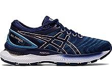 ASICS Women's Gel-Nimbus 22 Running Shoes, 11M, Grey Floss/Peacoat