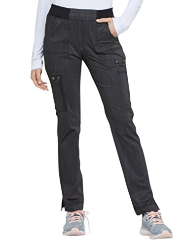 - Dickies Advance Women's Knit Waistband Tapered Scrub Pant Medium Onyx Twist