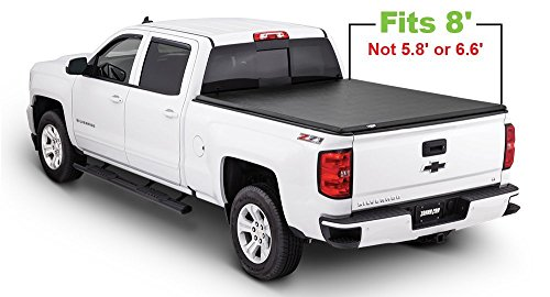 Tonno Pro LR-1010 Lo-Roll Black Roll-Up Truck Bed Tonneau Cover 1999-2006 Chevrolet Silverado / GMC Sierra 1500, 2001-2006 Silverado / GMC Sierra 2500 HD, 3500 | Fits 8' Bed | Also fits 2007 Silverado Classic 1500, 2500 HD, 3500 / GMC Sierra Classic 1500, 2500 HD
