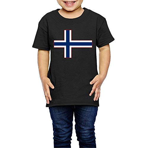 SHIRT1-KIDS Norway Flag Costume Kids Crew Neck Short Sleeve Shirt Tee Jersey for 2-6 Toddlers ()