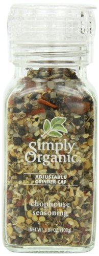 - Simply Organic Chophouse Seasoning Certified Organic, 3.81-Ounce Container