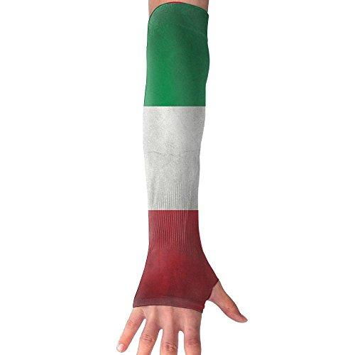 Unisex Italy Flag Grunge Anti-UV Cuff Sunscreen Glove Outdoor Sport Climbing Half Refers Arm Sleeves by HBSUN FL