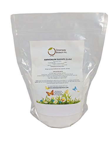 "Ammonium Sulfate 21-0-0 Fertilizer""Greenway Biotech Brand"" 5 Pounds"
