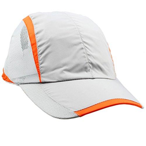 - squaregarden Baseball Cap Hat,Running Golf Caps Sports Sun Hats Quick Dry Lightweight Ultra Thin,Light Grey,One Size