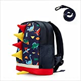 LESNIC Kids Dinosaur Backpack with Leash, Buckles