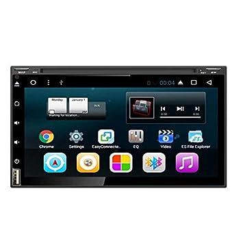 TOPNAVI 6.95Inch 2Din Quad Core Android 7.1 Universal de navegación GPS del coche Universal con