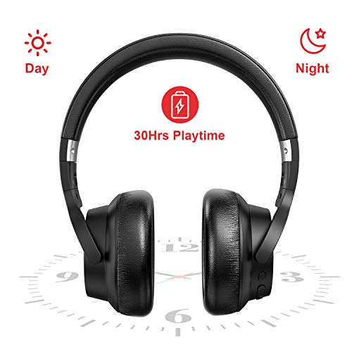 RCA [Upgraded] Active Noise Cancelling Headphones, Over Ear Wireless Bluetooth Headset with CVC 6.0 Mic, 30Hrs Playtime…