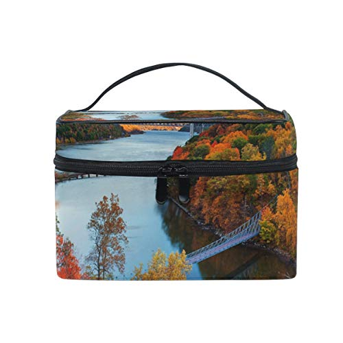 Travel Cosmetic Bag Hudson River Valley Autumn Toiletry Makeup Bag Pouch Tote Case Organizer Storage For Women Girls