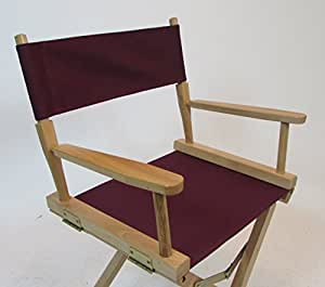 Replacement Cover Canvas for Directors Chair (Round Stick) - Burgundy