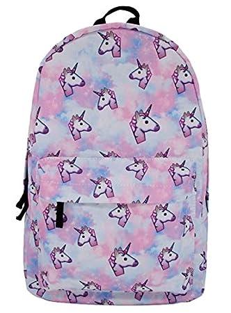 Hwiionne Mochila de viaje de la bolsa de viaje de unicornio estudiante mochila de la marea de Europa y América de moda: Amazon.es: Hogar
