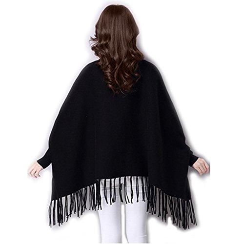 Hi Sea - Poncho - capa - para mujer negro