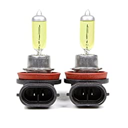 Optilux H71071132 XY Series H11 12V/55W Xenon Yellow Halogen Bulb Set