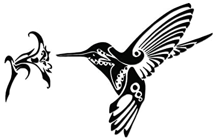2a2ffd7fa Image Unavailable. Image not available for. Color: Tribal Art Hummingbird Vinyl  Decal Sticker For Vehicle Car Truck Window Bumper Wall ...
