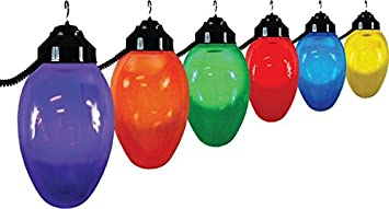 Polymer products llc 1661 10521 giant christmas bulb six globe polymer products llc 1661 10521 giant christmas bulb six globe string light set outdoor lightstrings amazon mozeypictures Images