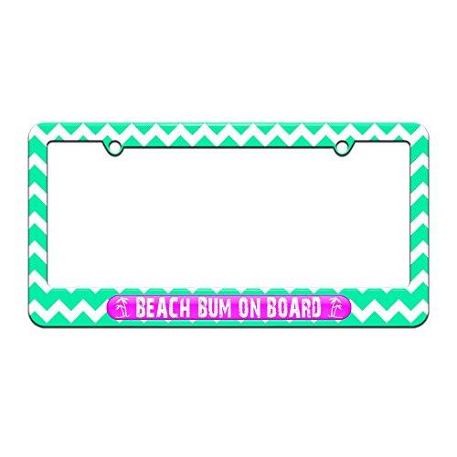 beach bum license plate frame - 1