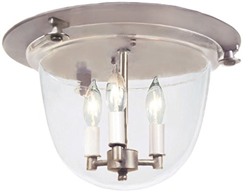 JVI Designs 1157-15 Classic Flush Mount Bell Lantern with Clear Glass