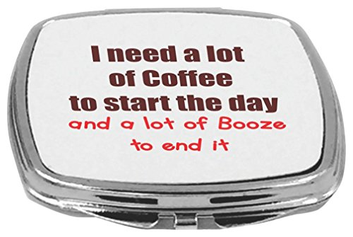 Rikki Knight Compact Mirror, I Need a Lot of Coffee and B...
