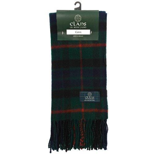 clans-of-scotland-pure-new-wool-scottish-tartan-scarf-gunn-one-size