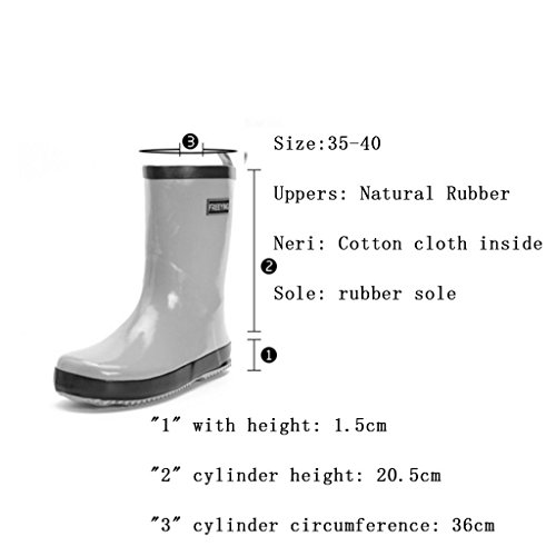 Water Rubber CN41 Boots Water Slip EU40 Rain Pink Brisk Fashion Adult Color Overshoes Shoes UK7 New Boots Ladies Size Yellow Shoes 7vqpwvHI