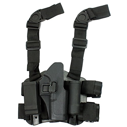 LTY Drop Leg Holster CQC Pistol Serpa Right Hand Pouch For Glock 17 19 22 23 31 32 (Black)