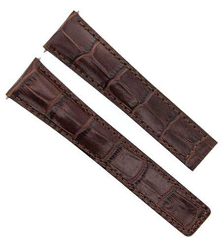 - 21MM Leather Band Strap for TAG HEUER AQUARACER CAN1010 BA0821,CAP2112 Brown 3T