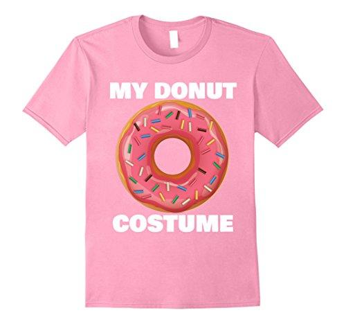 Doughnut Man Costume (Mens My Donut Costume Funny Halloween T-shirt Small Pink)