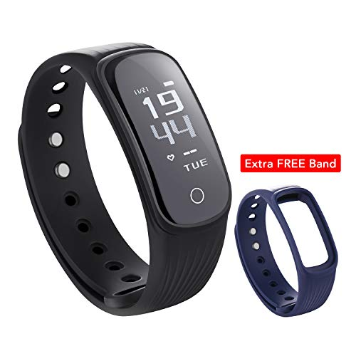 MARNUR Fitness Tracker CHR with Heart Rate Monitor 4 Screen Display Modes Waterproof 5 in 1 Smart Bracelet Built-in USB Plug Activity Tracker with Calories Steps Counter Pedometer for Men - Moda Hearts