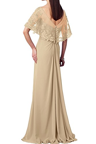 Marie Abendkleider v Braut Bodenlang Spitze Burgundy Burgundy Brautmutterkleider Ballkleider Chiffon La Elegant Ausschnitt x01Adq0wn