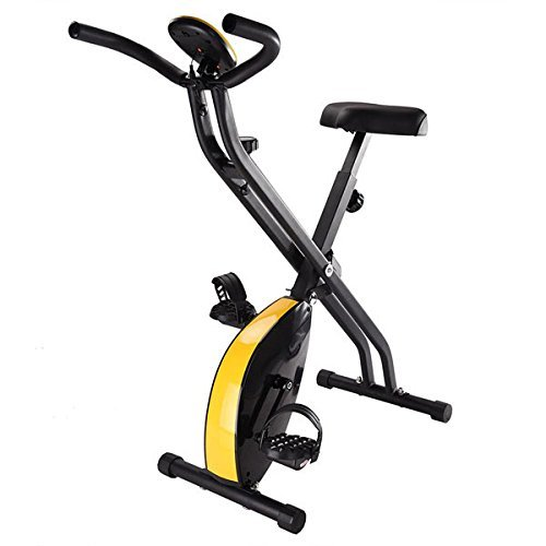 Triprel Inc Home Indoor Cycling Foldable Magnetic Upright Exercise Bike - Black by Triprel Inc