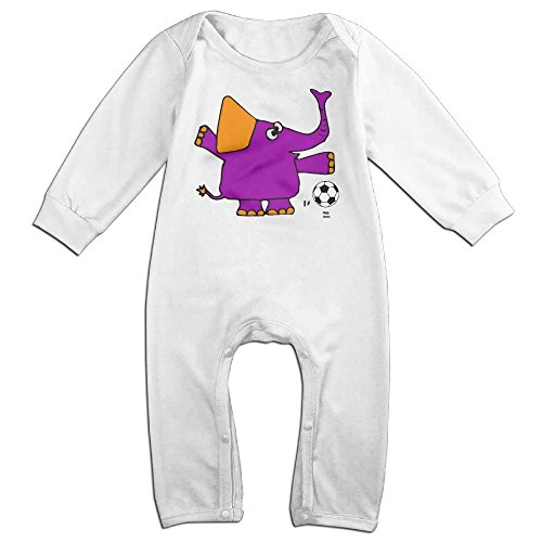 Mri-le1 Baby Boy Coverall Cute Elephant Playing Soccer Baby Clothes