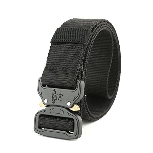Quner Belt Rigger D-Ring Waist Belt Clip 1.5 Inch Men's Quick Release Buckle Belt ()