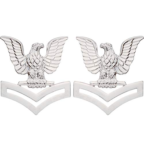Medals of America US Navy Petty Officer 2nd E5 Class Hat Badge Collar Device Pair Mirror One ()