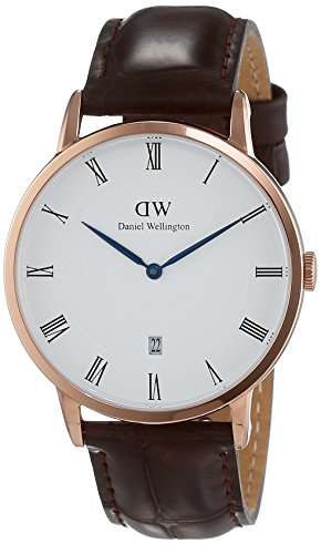 Daniel Wellington - Dapper York Rosegold 38mm Unisex Leather watch