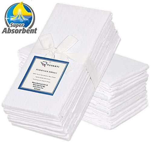 Ruvanti 24 Pack Extra Large Flour Sack Dish Towels (30