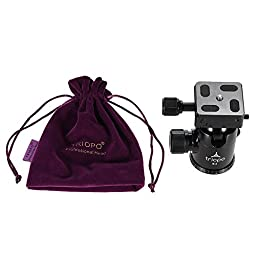 Andoer TRIOPO B-2 Tripod Head Ball Head 360 Degree Panorama Head W/ Built-in Double Spirit Levels & Safety Catch for DSLR Cameras Max Load 8Kg