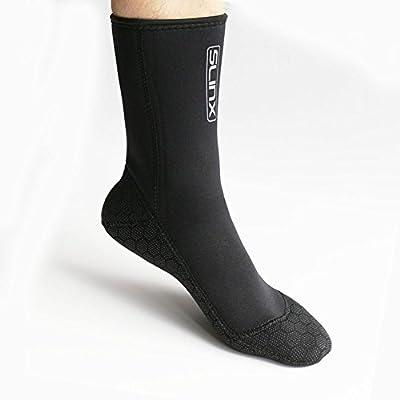 Neoprene Water Fin Sock Diving Wetsuits Sock 3MM for Women Men, Thermal Beach Sock Anti Slip Flexible for Snorkeling Surfing Kayaking Swimming Sailing Diving